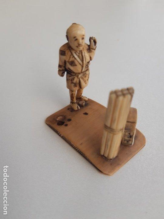 ANTIGUO NETSUKE (Arte - Escultura - Marfil)