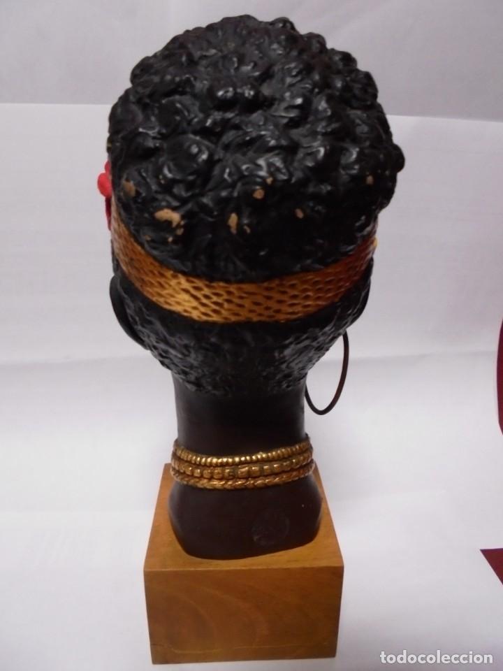 Arte: magnifico antiguo busto art deco en terracota poligromado - Foto 4 - 173967467