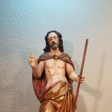 Arte: TALLA CRISTO SALVADOR MUNDO. ESCUELA CASTELLANA FIN S. XVI PRINC.S XVII. ÉPOCA FELIPE II.. Lote 174049180