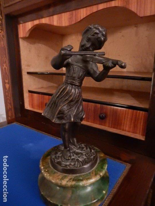 Arte: Escultura modernista en bronce y ónix - Foto 3 - 174100932