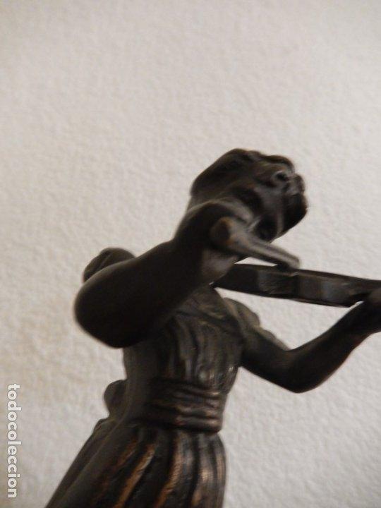 Arte: Escultura modernista en bronce y ónix - Foto 5 - 174100932