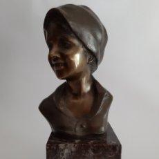 Arte: GIOVANNI DE MARTINO. NÁPOLES 1870-1935. ESCULTURA EN MARMOL Y BRONCE. ART DECÓ.. Lote 174371128