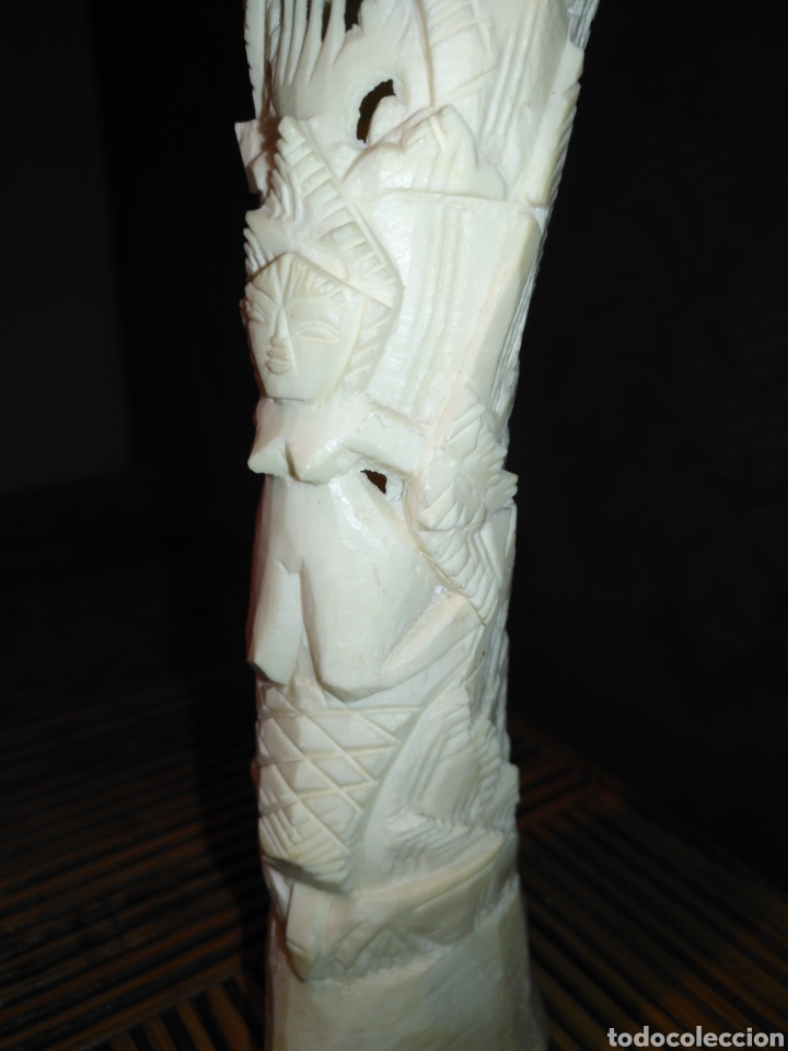 Arte: Figura Totem hueso , talla hueso figura fertilidad , peso 129 gr , medidas 22 x 5 x 4 cm - Foto 3 - 174478652