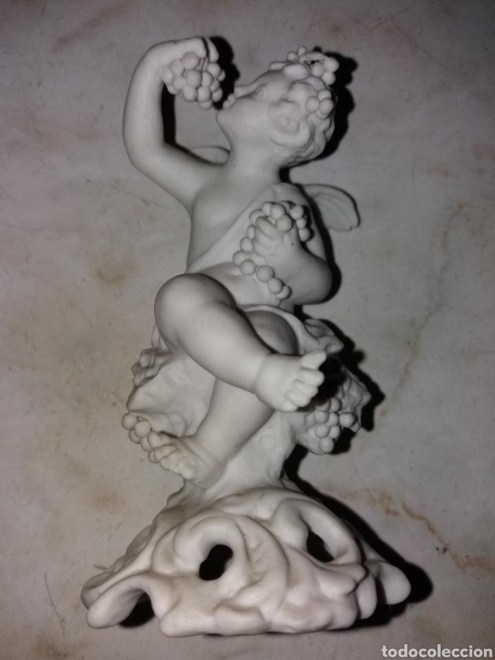 Arte: Pareja de esculturas angeles, año 1850 de Biscuit firmada - Foto 6 - 174522892