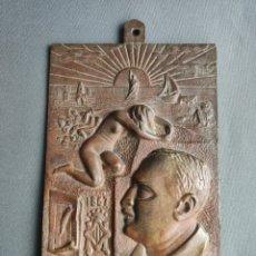 Arte: VICENTE BLASCO IBAÑEZ , PLACA DE BRONCE 1867 - 1928 , FIRMADA CON MONOGRAMA . Lote 174545200