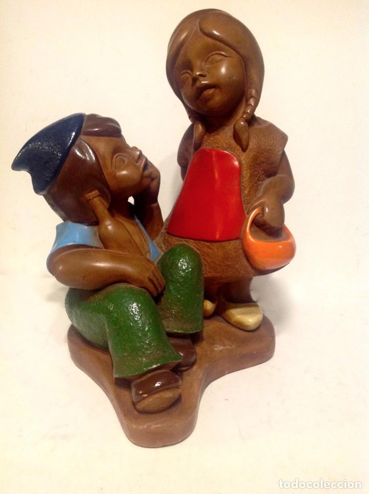 Arte: Figura De Niños Medidas 28CM Alto - Foto 3 - 175057520
