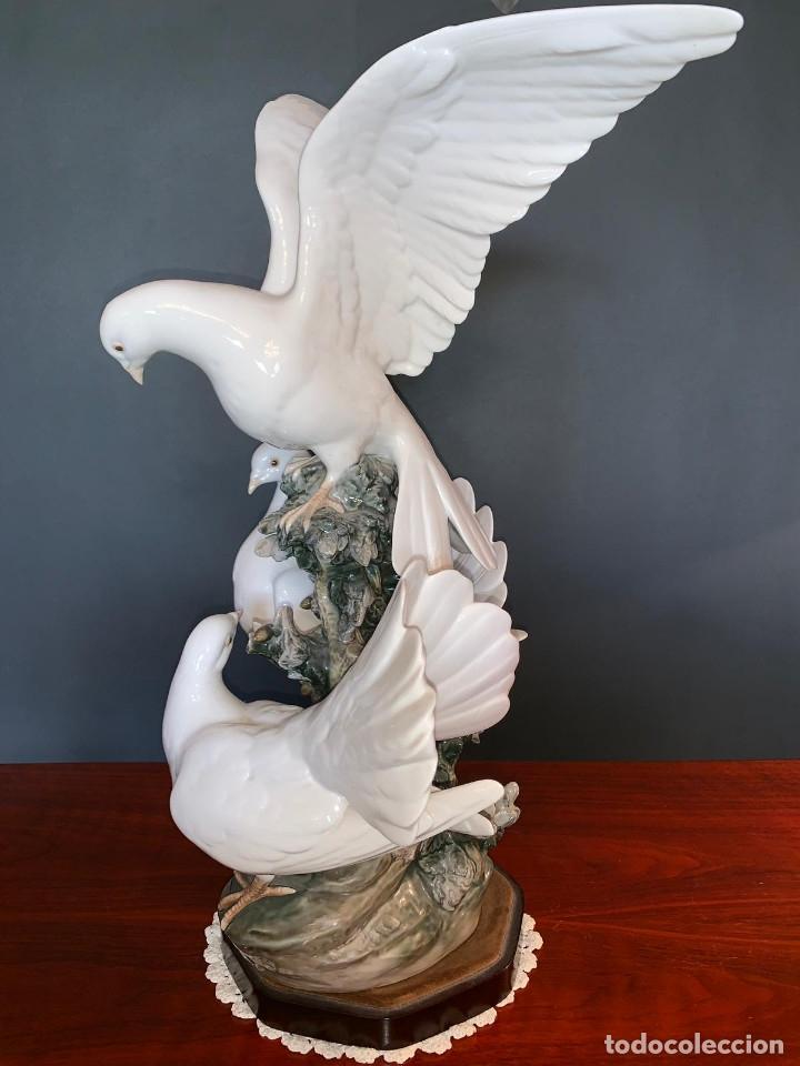 Arte: Conjunto de palomas de porcelana de LLadró - Foto 4 - 175193065