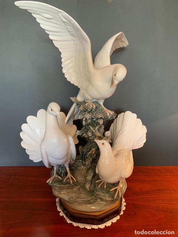 Arte: Conjunto de palomas de porcelana de LLadró - Foto 5 - 175193065