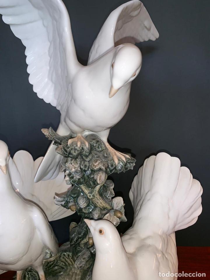 Arte: Conjunto de palomas de porcelana de LLadró - Foto 6 - 175193065
