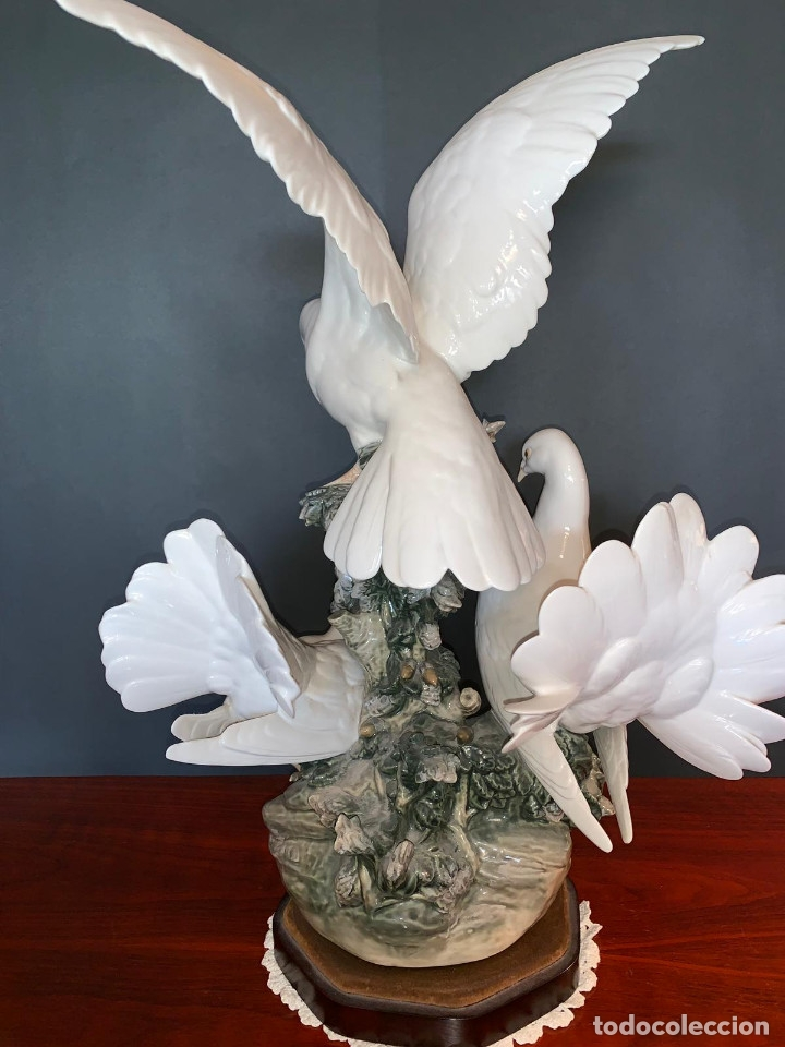 Arte: Conjunto de palomas de porcelana de LLadró - Foto 11 - 175193065