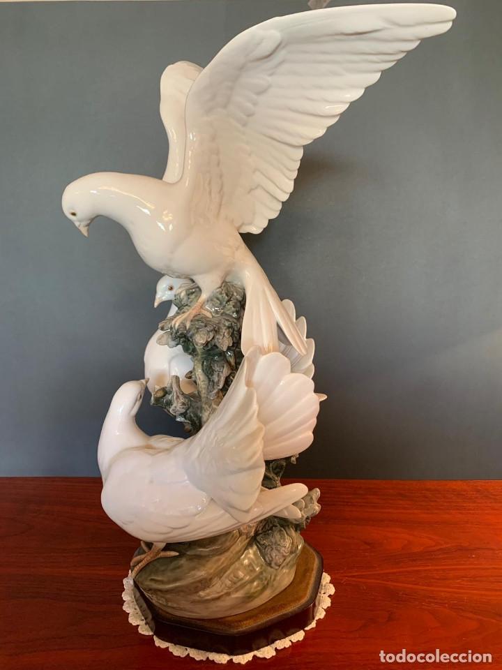 Arte: Conjunto de palomas de porcelana de LLadró - Foto 14 - 175193065