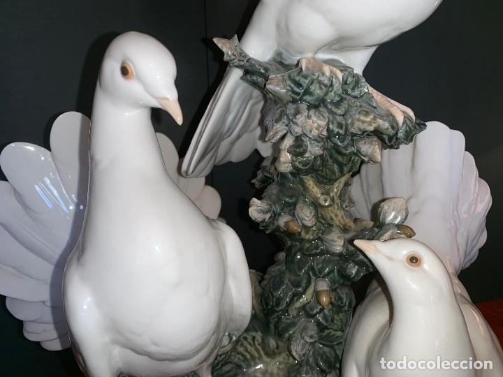 Arte: Conjunto de palomas de porcelana de LLadró - Foto 15 - 175193065