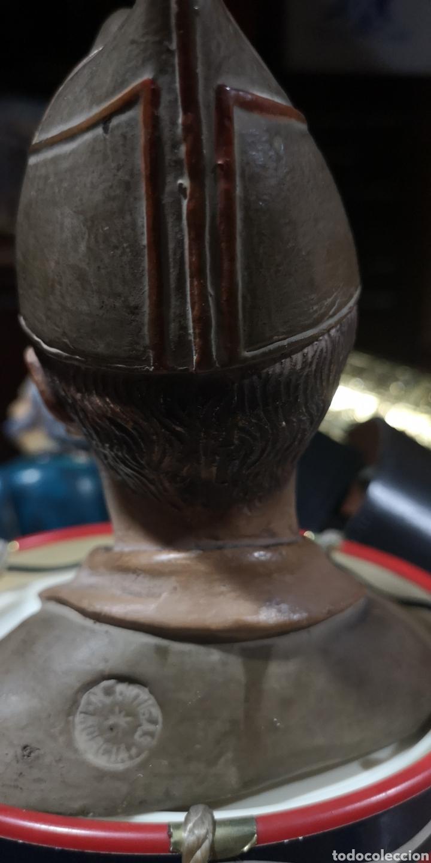 Arte: Busto en terracota de Millán Astray, años 20, pequeños desperfectos - Foto 3 - 175220984