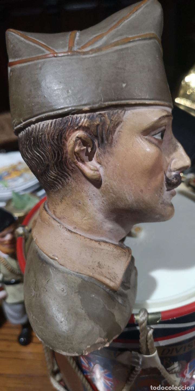 Arte: Busto en terracota de Millán Astray, años 20, pequeños desperfectos - Foto 6 - 175220984