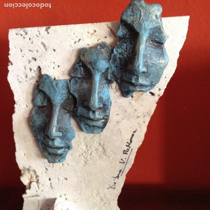 Arte: Escultura piedra y bronce.Firmada. - Foto 2 - 175323447
