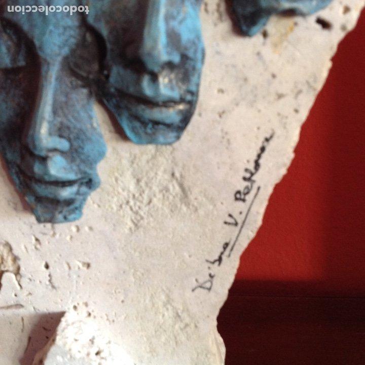 Arte: Escultura piedra y bronce.Firmada. - Foto 3 - 175323447
