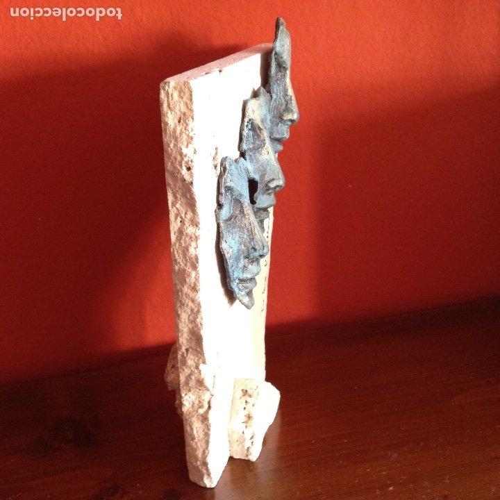 Arte: Escultura piedra y bronce.Firmada. - Foto 4 - 175323447