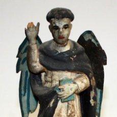 Arte: TALLA EN MADERA POLICROMADA DE SAN VICENTE FERRER DEL SIGLO XVIII. Lote 175359807