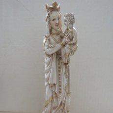 Arte: FANTASTICA TALLA DE LA VIRGEN CON NIÑO JESUS EN MARFIL Y PAN DE ORO,DE FINALES SIGLO XVIII, 35,5 CMS. Lote 175409664