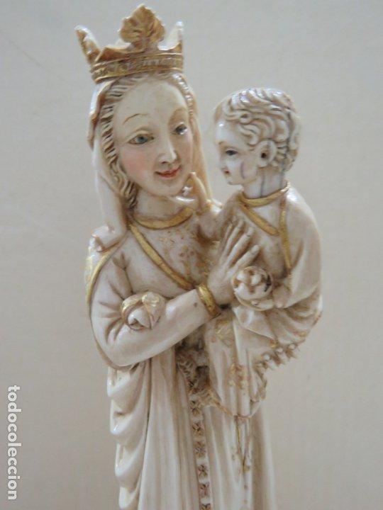 Arte: FANTASTICA TALLA DE LA VIRGEN CON NIÑO JESUS EN MARFIL Y PAN DE ORO,DE FINALES SIGLO XVIII, 35,5 CMS - Foto 6 - 175409664