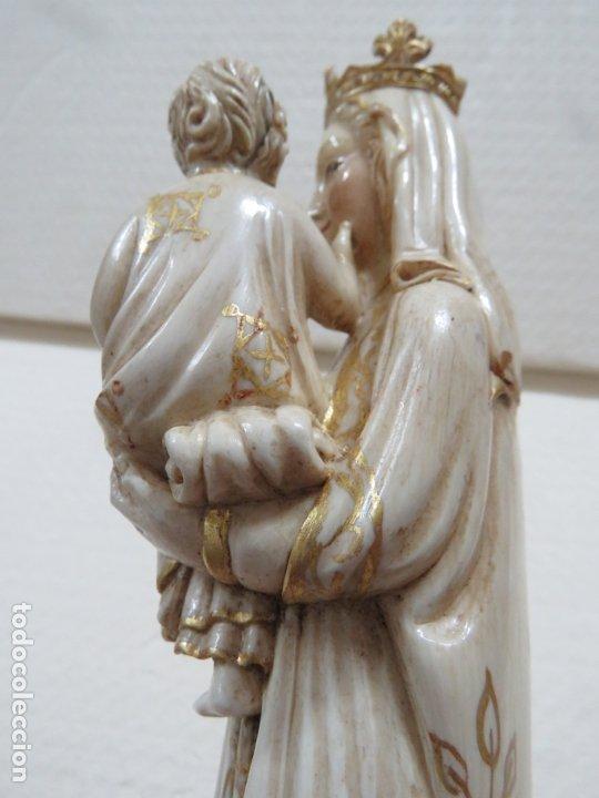 Arte: FANTASTICA TALLA DE LA VIRGEN CON NIÑO JESUS EN MARFIL Y PAN DE ORO,DE FINALES SIGLO XVIII, 35,5 CMS - Foto 10 - 175409664