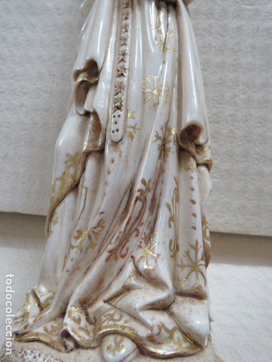 Arte: FANTASTICA TALLA DE LA VIRGEN CON NIÑO JESUS EN MARFIL Y PAN DE ORO,DE FINALES SIGLO XVIII, 35,5 CMS - Foto 12 - 175409664