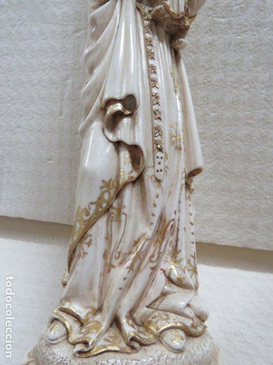 Arte: FANTASTICA TALLA DE LA VIRGEN CON NIÑO JESUS EN MARFIL Y PAN DE ORO,DE FINALES SIGLO XVIII, 35,5 CMS - Foto 13 - 175409664