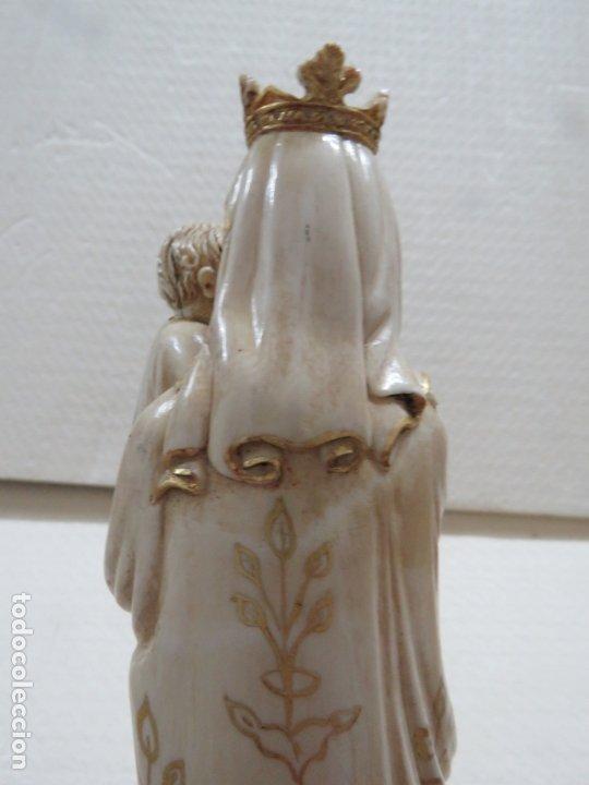 Arte: FANTASTICA TALLA DE LA VIRGEN CON NIÑO JESUS EN MARFIL Y PAN DE ORO,DE FINALES SIGLO XVIII, 35,5 CMS - Foto 15 - 175409664