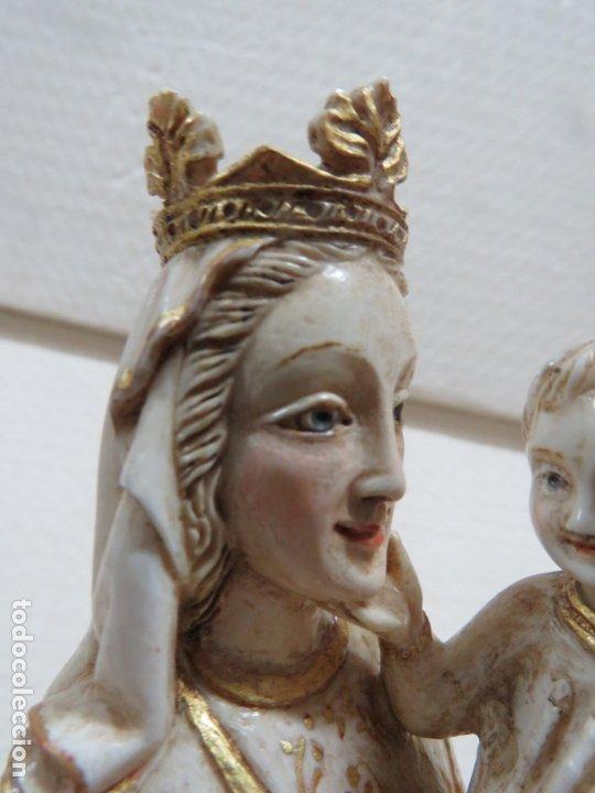 Arte: FANTASTICA TALLA DE LA VIRGEN CON NIÑO JESUS EN MARFIL Y PAN DE ORO,DE FINALES SIGLO XVIII, 35,5 CMS - Foto 18 - 175409664