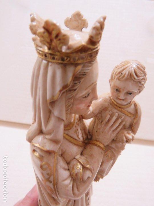 Arte: FANTASTICA TALLA DE LA VIRGEN CON NIÑO JESUS EN MARFIL Y PAN DE ORO,DE FINALES SIGLO XVIII, 35,5 CMS - Foto 19 - 175409664