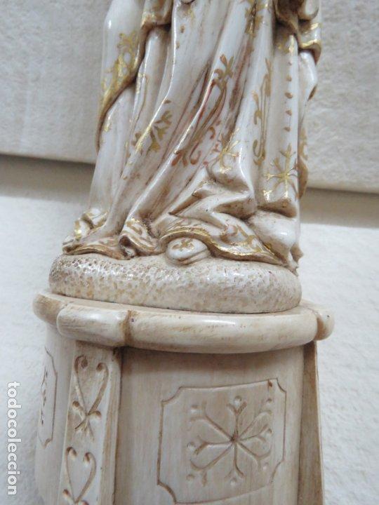 Arte: FANTASTICA TALLA DE LA VIRGEN CON NIÑO JESUS EN MARFIL Y PAN DE ORO,DE FINALES SIGLO XVIII, 35,5 CMS - Foto 21 - 175409664