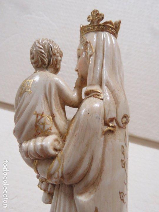 Arte: FANTASTICA TALLA DE LA VIRGEN CON NIÑO JESUS EN MARFIL Y PAN DE ORO,DE FINALES SIGLO XVIII, 35,5 CMS - Foto 25 - 175409664
