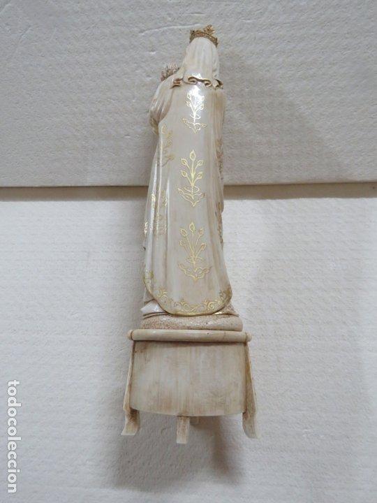 Arte: FANTASTICA TALLA DE LA VIRGEN CON NIÑO JESUS EN MARFIL Y PAN DE ORO,DE FINALES SIGLO XVIII, 35,5 CMS - Foto 29 - 175409664
