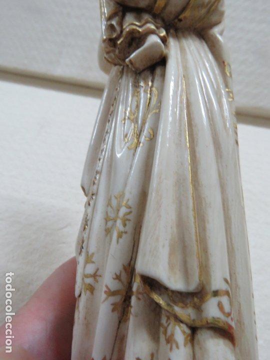 Arte: FANTASTICA TALLA DE LA VIRGEN CON NIÑO JESUS EN MARFIL Y PAN DE ORO,DE FINALES SIGLO XVIII, 35,5 CMS - Foto 34 - 175409664