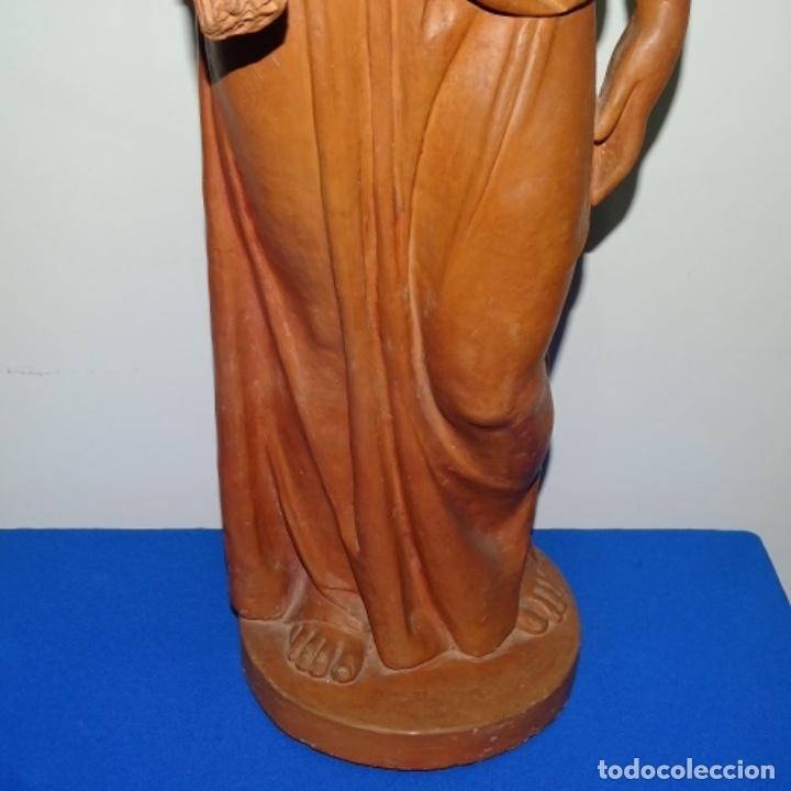 Arte: Gran escultura en terracota anónima.mujer con haz de espigas. - Foto 5 - 175461550