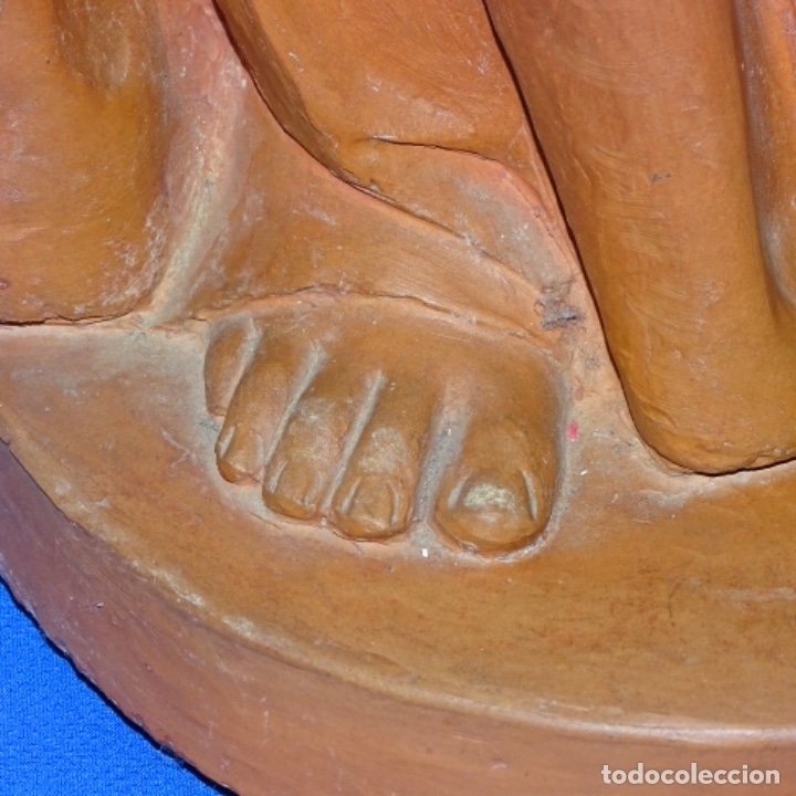 Arte: Gran escultura en terracota anónima.mujer con haz de espigas. - Foto 7 - 175461550