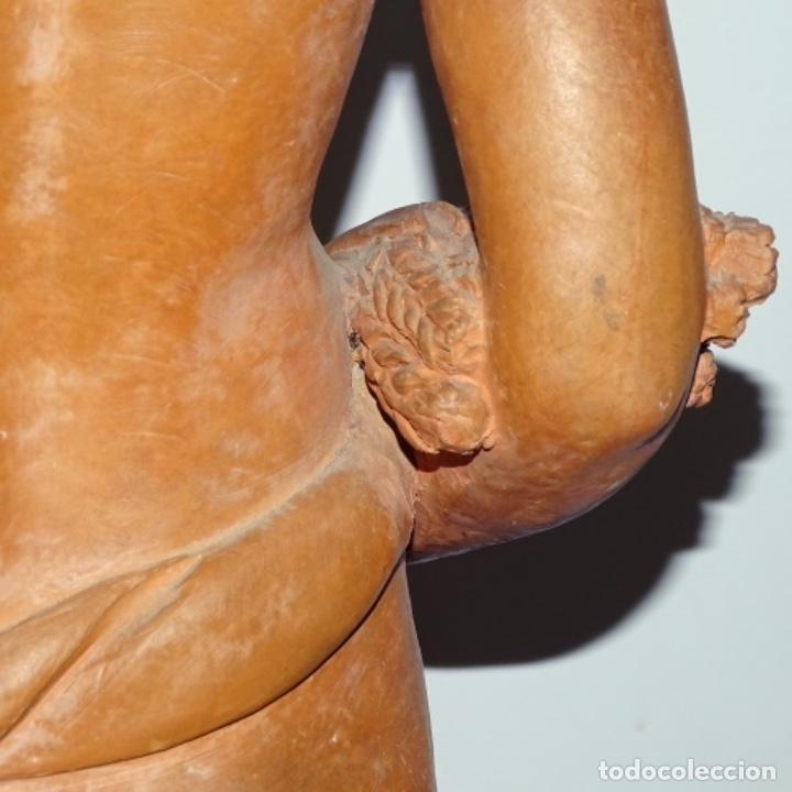 Arte: Gran escultura en terracota anónima.mujer con haz de espigas. - Foto 12 - 175461550