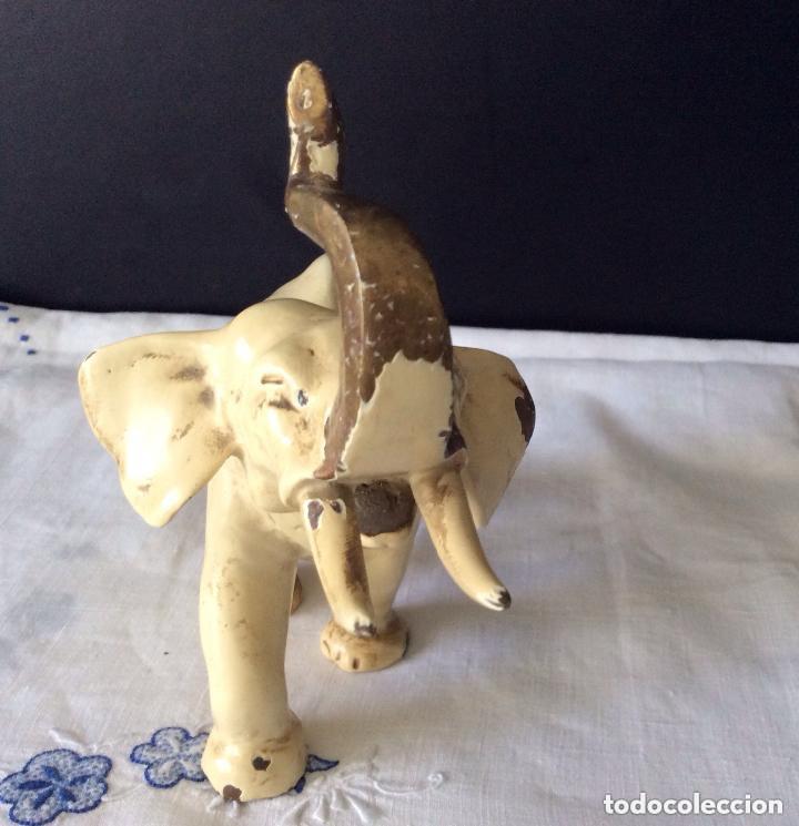 Arte: ELEFANTE,Antigua Escultura en bronce representando elefante - Foto 3 - 175596364