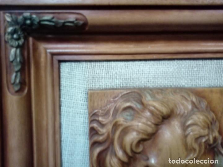 Arte: precioso cuadro en talla de madera j.j.rueda - 40x46 - Foto 5 - 175654804