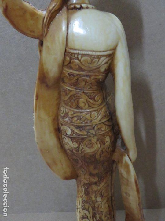 Arte: TREMENDA TALLA THAILANDESA EN MARFILINA, 63 CMS DE ALTA Y 5 KILOS DE PESO, MIL DETALLES,EXPECTACULAR - Foto 10 - 175702592