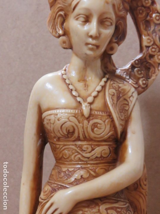 Arte: TREMENDA TALLA THAILANDESA EN MARFILINA, 63 CMS DE ALTA Y 5 KILOS DE PESO, MIL DETALLES,EXPECTACULAR - Foto 12 - 175702592