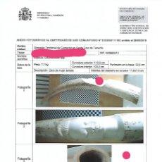 Arte: CUATRO COLMILLOS DE MARFIL DE ORIGEN LEGAL CON CERTIFICADO CITES.. Lote 175792218