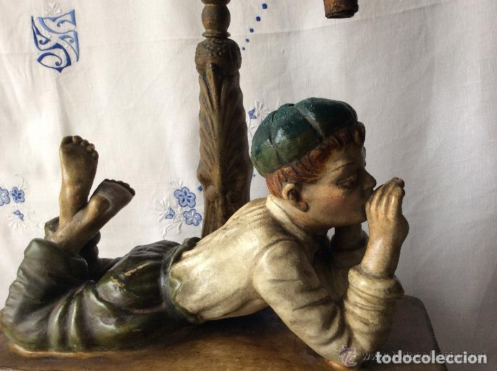 Arte: ART NOVEAU, FIGURA EN TERRACOTA POLICROMADA ,modernista - Foto 2 - 175842314