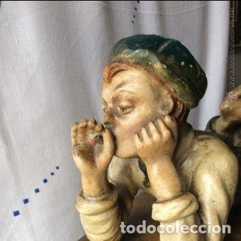 Arte: ART NOVEAU, FIGURA EN TERRACOTA POLICROMADA ,modernista - Foto 7 - 175842314