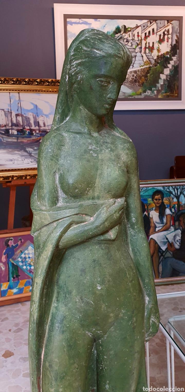 Arte: Preciosa escultura vintage, mujer en Resina. - Foto 2 - 175850338