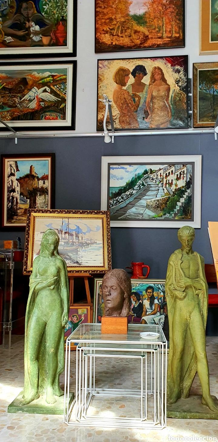 Arte: Preciosa escultura vintage, mujer en Resina. - Foto 3 - 175850338