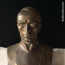 Arte: PIO XII,ESCULTURA EN BRONCE PATINADO (5KG) REPRESENTANDO AL PAPA PIO XII. Lote 175853497