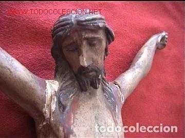 CRISTO GOTICO TALLA MADERA S.18 (Arte - Escultura - Madera)