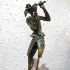 Arte: ESCULTURA ( MUY BUSCADA, ARLEQUÍN BRONCE MACIZO , ÚNICA ! ) . MÁS ESCULTURAS EN MÍ PERFIL. Lote 166644286