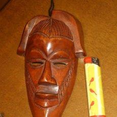 Arte: CARA DE MADERA TALLADA PARA COLGAR, TRIBU AFRICANA... Lote 175983484